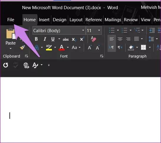 قم بتغيير موقع الحفظ في تطبيقات MICROSOFT OFFICE