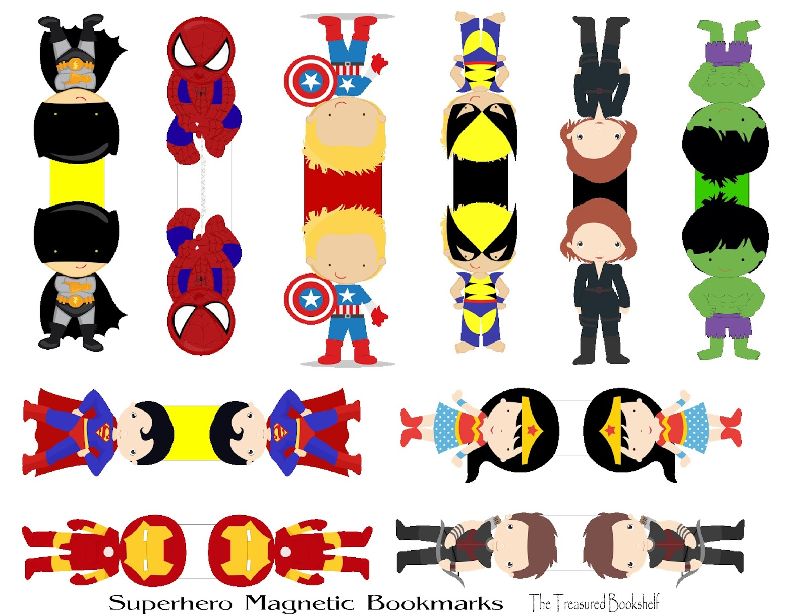 Diy Party Mom Diy Superhero Magnetic Bookmarks