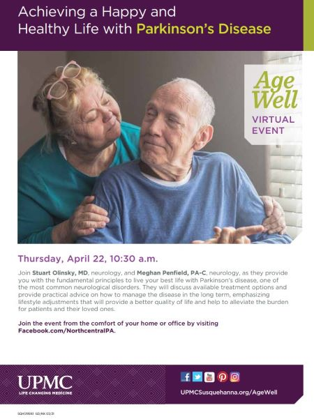 4-22 UPMC Living With Parkinsons Virtual Event