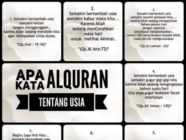Apa Kata Al-Quran Tentang Usia Kita