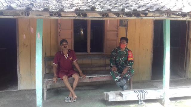 Kodim Sragen - Babinsa Mojopuro : Tangkal  Corona, Hindari Keluar Rumah
