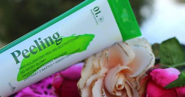 basil element peeling oczyszczający przeciw wypadaniu włosów