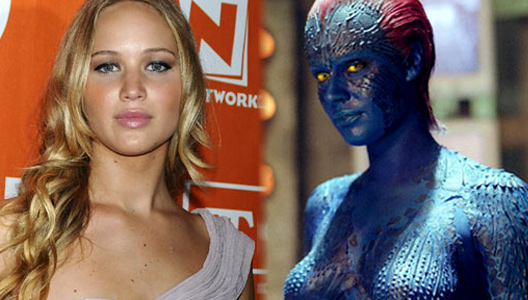 Jennifer Lawrence as Mystique.