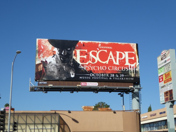 Escape Psycho Circus billboard
