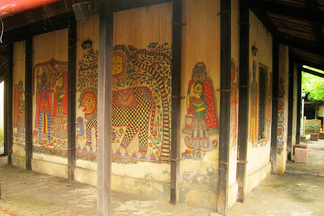 Madhubani Paintings in Crafts Museum Pragati Maidan