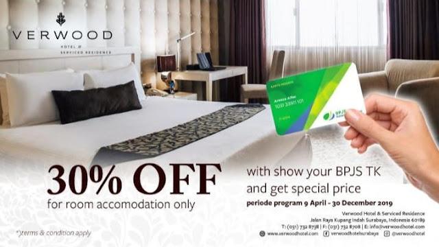 Verwood Hotel Surabaya Beri Diskon Untuk Peserta BPJS Ketenagakerjaan