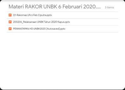 Materi Rakor UNBK 6 Februari 2020