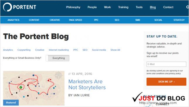 Portent blog