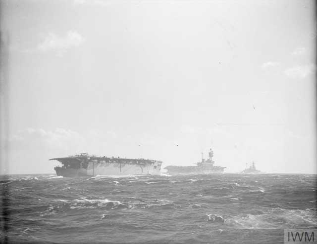 British aircraft carriers HMS Argus and Eagle, 7 March 1942 worldwartwo.filminspector.com