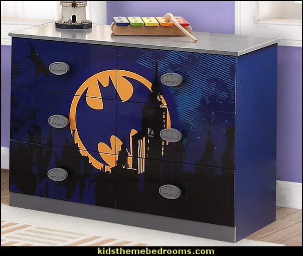 Batman 6 Drawer Double Dresser