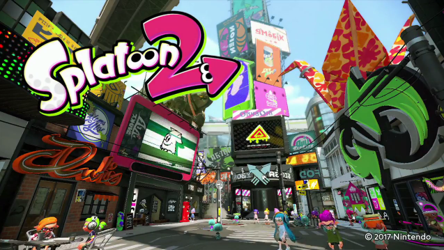Splatoon 2 title Nintendo Switch logo