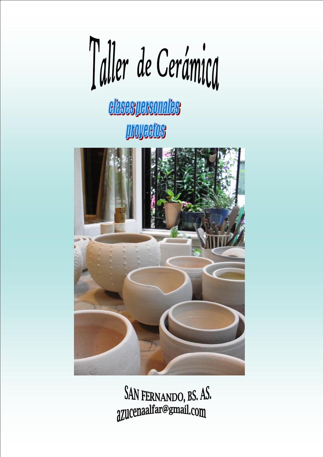 El taller de ceramica y alfareria 02 01 2016 03 01 2016 for Curso de decoracion de interiores zona norte
