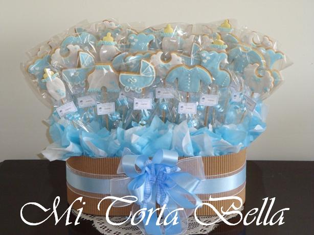 Mi torta bella arreglo de galletas for Mesa baby shower nino