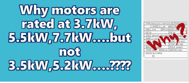 How does rating of motors decided ?