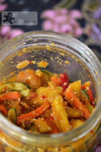 nyonya acar achar spicy mixed vegetable pickle