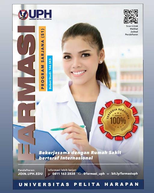 Beasiswa Universitas Pelita Harapan 2020 Program S1 Farmasi