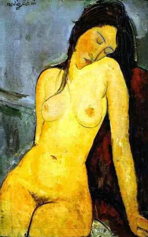 Nu Sentado l - Amedeo Modigliani e suas pricipais pinturas