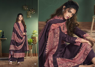 T And M Designer Saairah Pashmina Winter Wear Salwar Suits