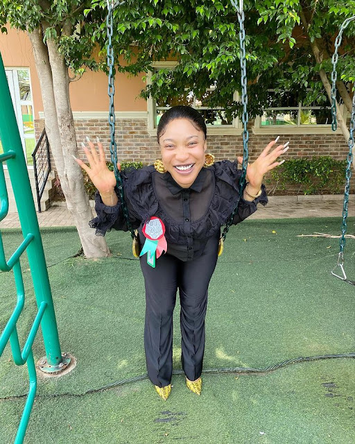 Is Momma De papa for me- Tonto dikeh visits her son's school for father's day (Photos)