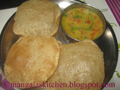 Puri Recipe | Secret for making Soft Puffy Poori
