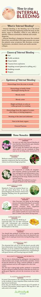 how to stop internal bleeding naturally