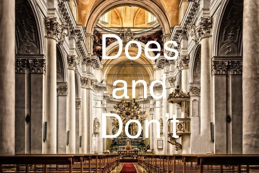Things we shouldn't be doing in the church