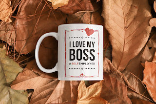I Love My Boss #SelfEmployed Classic Mug by TET. Available on Redbubble.