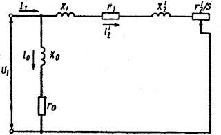 Упрощенная схема замещения асинхронного двигателя