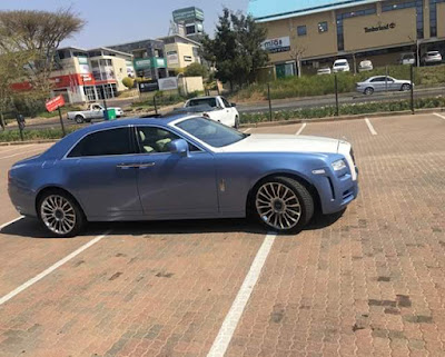 Photos: Brazen thief walks into a luxury car workshop in South Africa and drives off with Rolls Royce Phantom