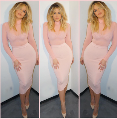 Khloe Kardashian shows off her curves and talks about chosing happiness love and abundance over everything