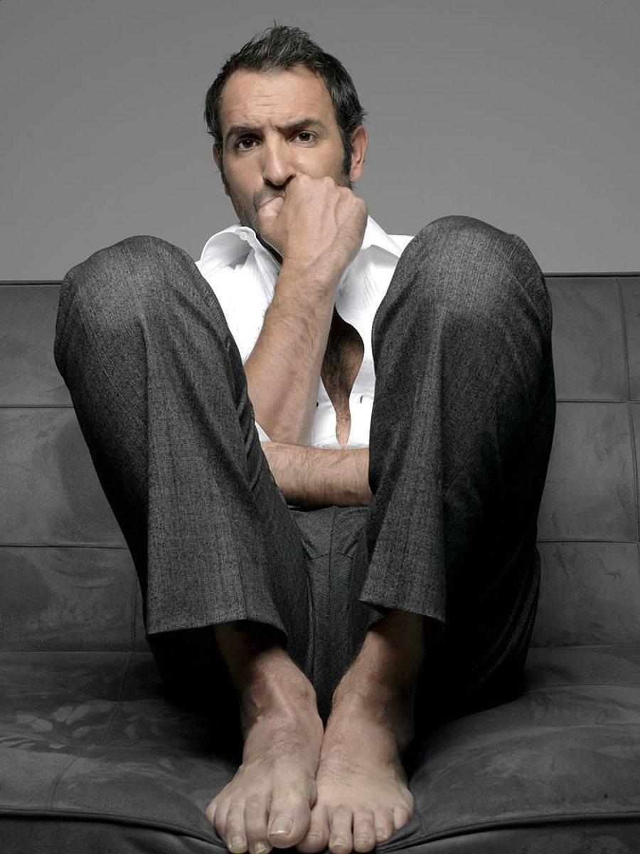 Straight Jock Feet Jean Dujardin Best Actor Feet-4036