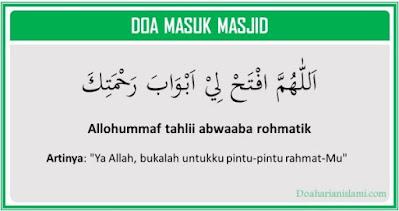 Doa masuk masjid lengkap dengan artinya