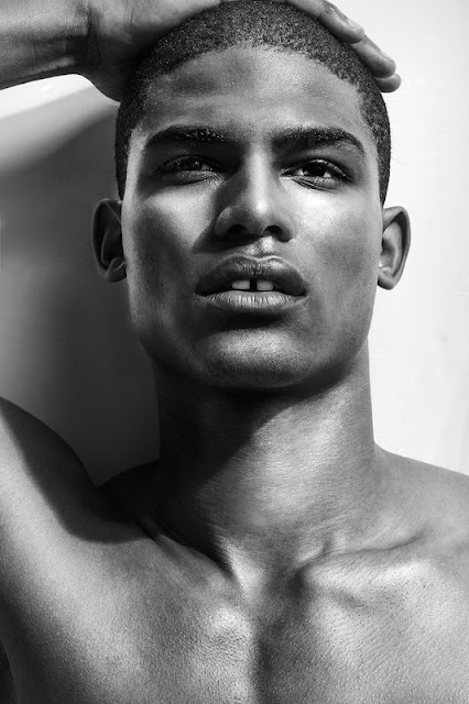 Vince Harrington by Robert Clyde Grima shirtless black male model gap tooth