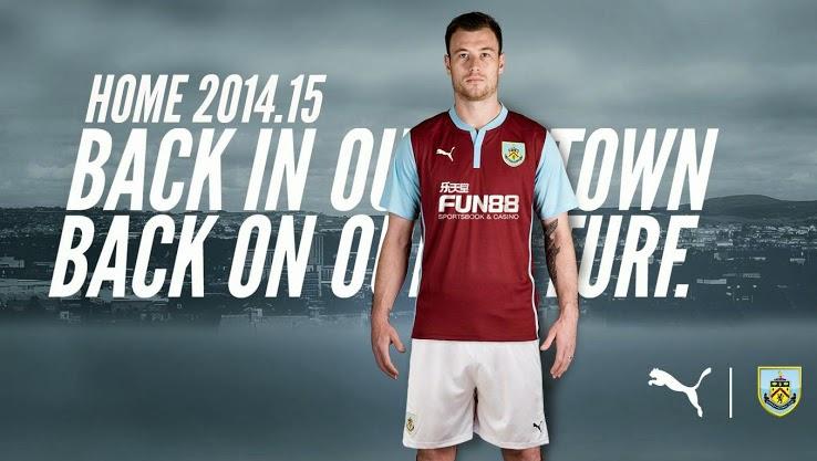 Los Burnley 14-15 camisas son hechas por Puma. Fun88 patrocina las nuevas  Burnley 2014-15 Kits 5a726a348f46e