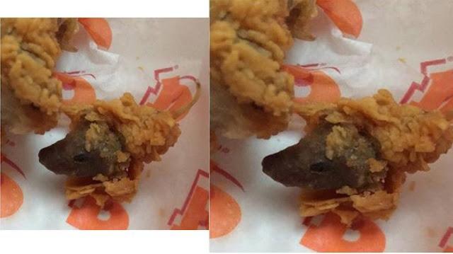 Ngeri! Wanita Ini Temukan Sesuatu di Fried Chicken-nya yang Bikin Kamu Nggak Doyan Makan Lagi