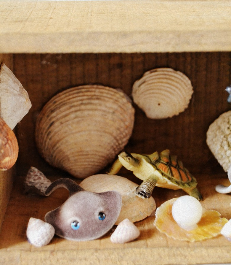 Haremos un diy básico muy sencillo, un diorama infantil recreando el fondo del océano
