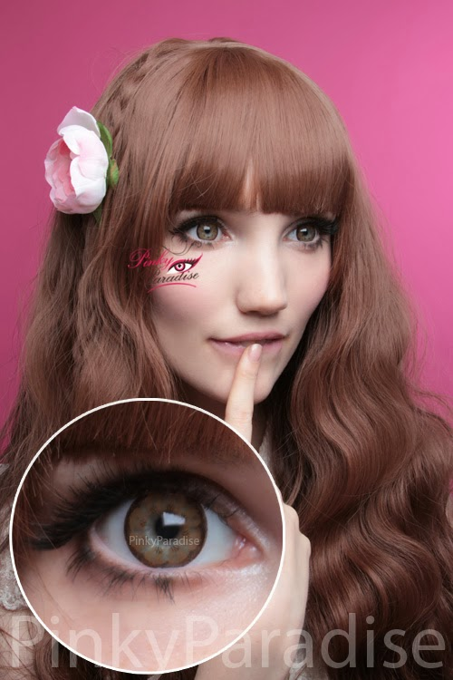 EOS Big Flower Brown Circle Lenses (Colored Contacts)