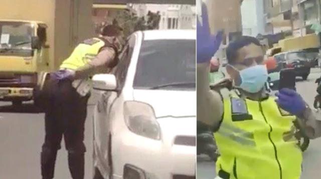 Geger Corona, Polisi Medan Malah Ludahi Sopir Mobil