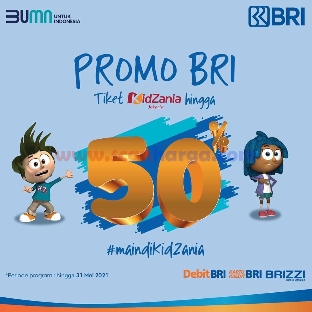 Promo KidZania Diskon hingga 50% dengan Kartu Kredit BRI