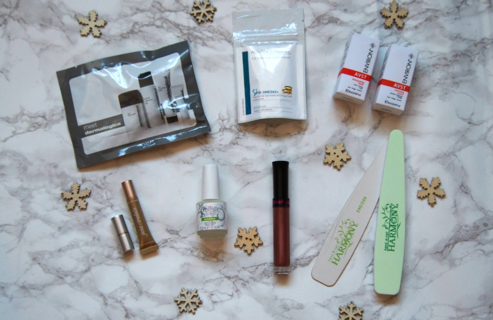 Selection of products from goodie bag