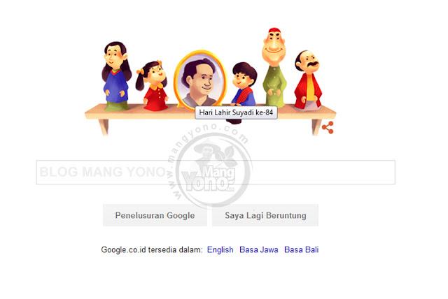 Google Doodle Rayakan Hari Lahir Suyadi (Pak Raden ) ke 84 - 2016