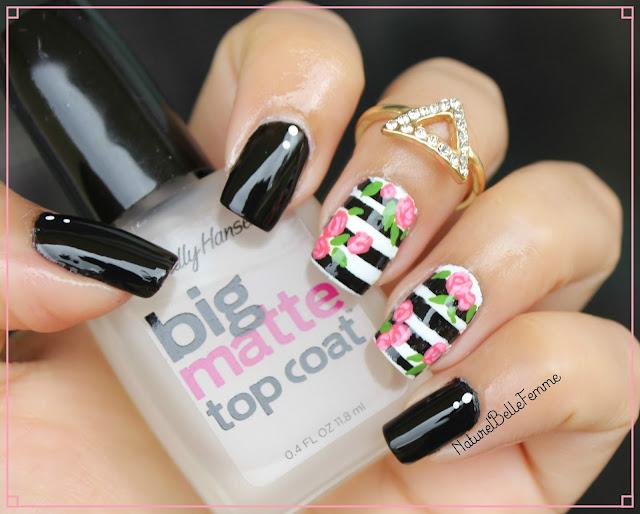 floral rose nails