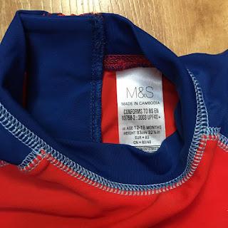Bộ bơi rời , áo riêng quần riêng bé trai hiệu MARK AND SPENCER ( UPF 40+). Hàng xuất xịn, made in cambodia.