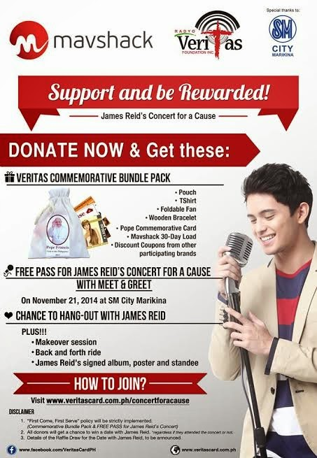 Watch James Reid's Concert for a Cause at SM City Marikina on November 21, 2014