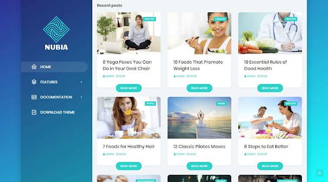 Nubia Premium Blogger Template Free Download
