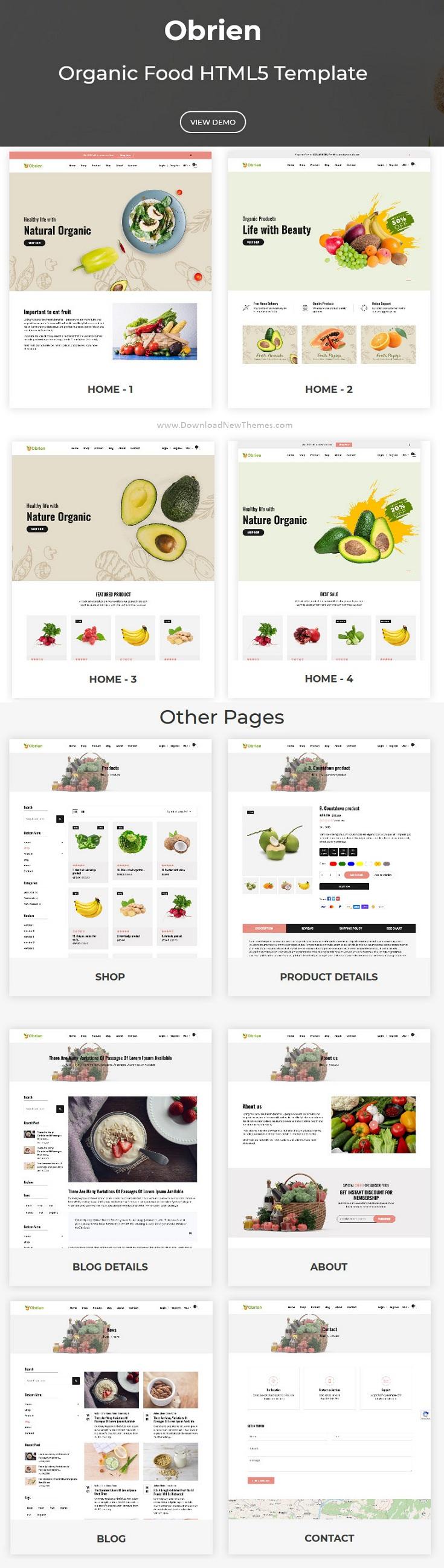 Organic Food Responsive Website Template