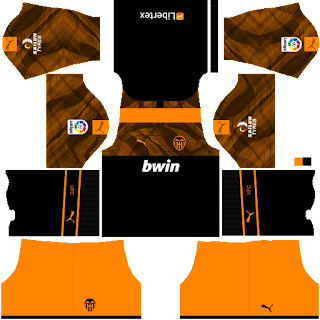 Valencia CF Dream League Soccer fts 2019 2020 DLS FTS Kits and Logo,Valencia CF dream league soccer kits, kit dream league soccer 2020 2019,