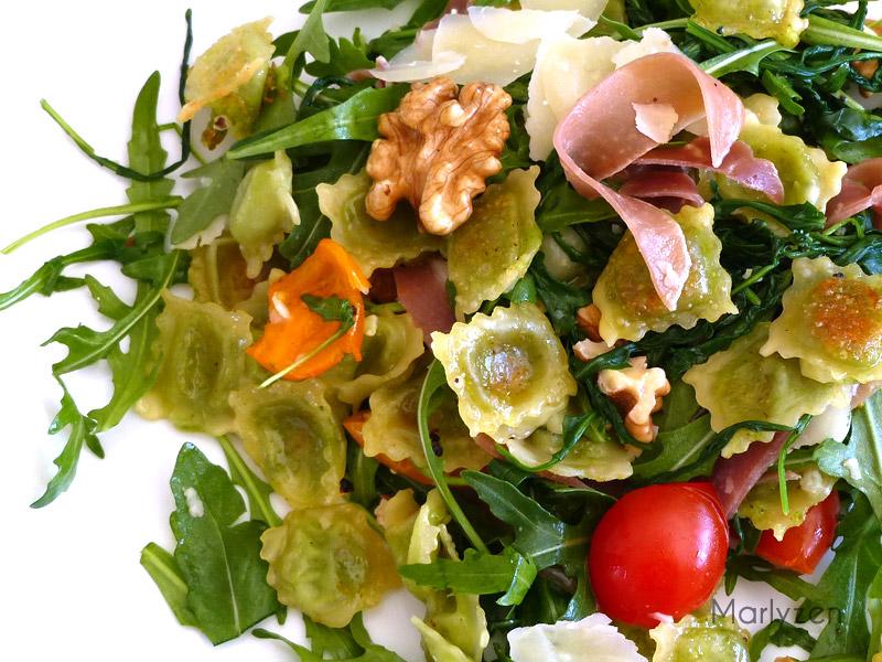 Salade de ravioles du Dauphiné