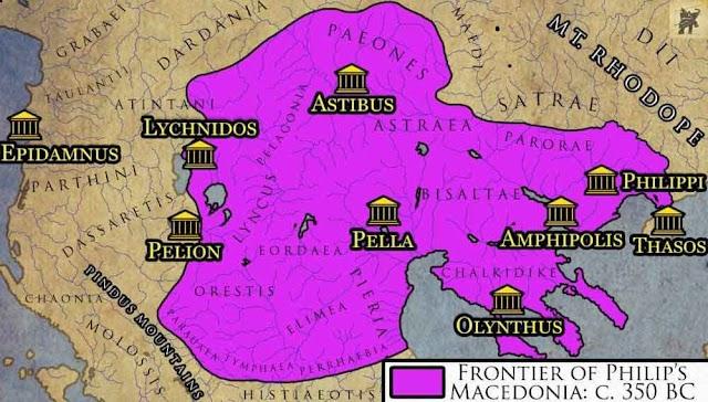 Makedonische Geschichte: Die Expansion unter Philipp II von Makedonien - Teil II