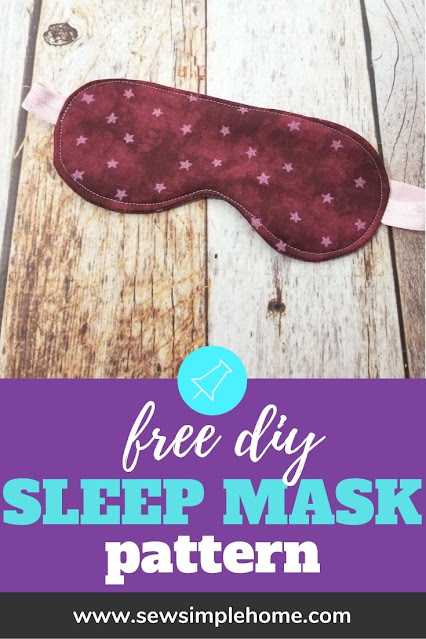 Create your own diy sleep mask with this simple tutorial and free pdf sewing pattern.